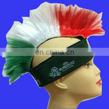 Hot sell mohawk wig with carsberg logo sport hawk wig promotion wig