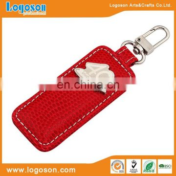 High quality mens leather metal keychain wholesale keyring