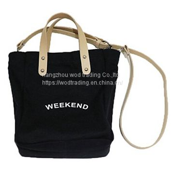 Black canvas messenger bags with long shoulder from China