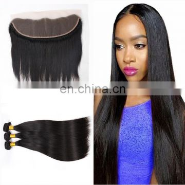 brazilian loose deep wave hair weave loose wave Ear to Ear lace frontal with bundles