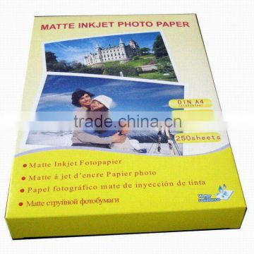 "108g inkjet matte photo paper for inkjet printer, office paper, A3, A4, A6, 10X15, A2, 4R, 3R, 5R, 24"", 36"", 42"""