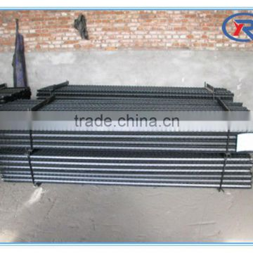 Black Painted Iron Fence Section