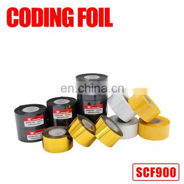 High quality 35mm*122m hot stamp coding foil for hot stamping coding machine
