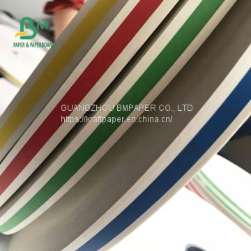 FDA Passed Biodegradable Stripe Drinking Straw Paper For Party Colorful Stripes