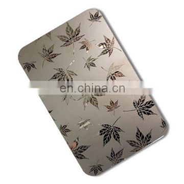 201/304/316/430 decoration color laser stainless steel sheet