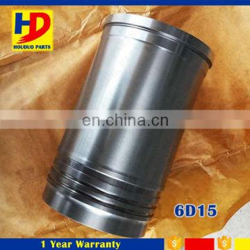 Engine Spare Parts 6D15 Cylinder liner For Excavator Diesel Engine