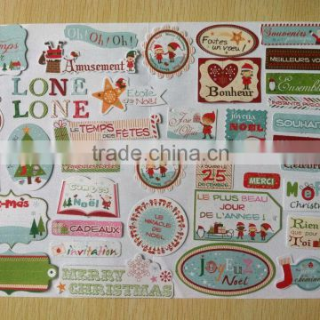 Promotional gifts Christmas decoration custom paper sticker