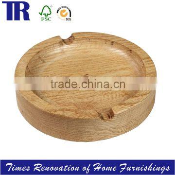 Oak Wood Ashtray, Round wood Ashtray, Solid Wood Ashtray.