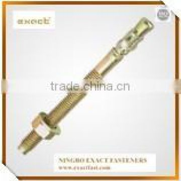 yellow zinc plated wedge anchor bolts m16