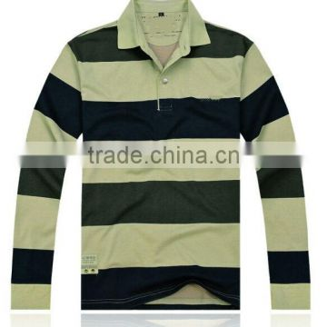 New Fashion autumn and winter men's striped polo shirt brand long sleeved striped MENS polo shirt M/3XL CUSTOMED