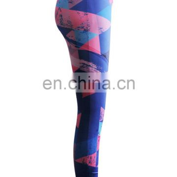 Dye sublimation spandex sexy lady yoga leggings, custom private label fitness wear