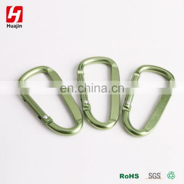 Olive Green Aluminum Alloy D Shape Carabiner, Key Chain,Snap hook