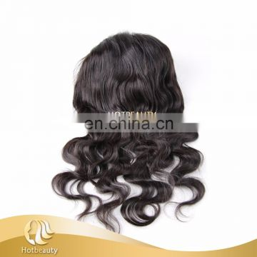 Wholesale cheap unprocessed indian human temple hair 360 frontal lace closure for women