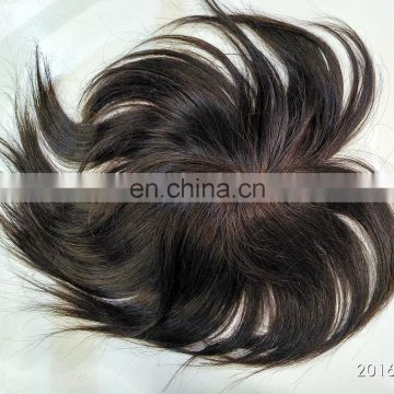 New Products Hot Sale ,100% Human Hair man toupee ,indian men hair toupee wig