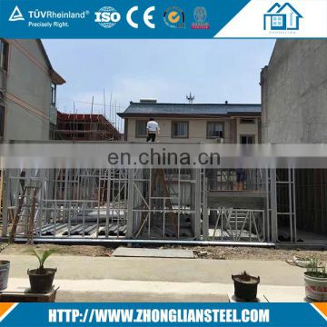 Prefabricated high rise two story modern steel structure hotel building