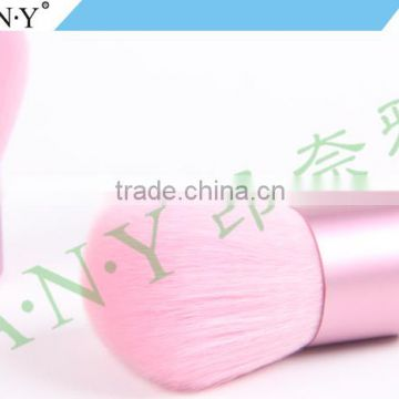 ANY Metal Handle Pink Kabuki Brush Nylon Hair