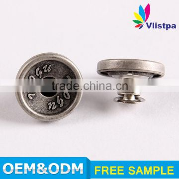 High Quality SGS certificated Embossed square snap button prong snap button