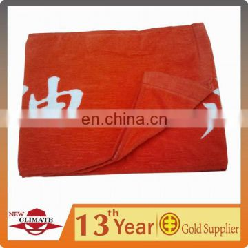 100% cotton printed plush terry towel