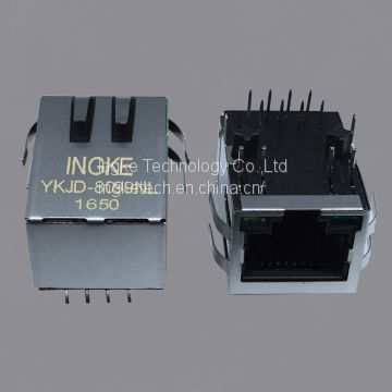 6605473-8 YKJD-8099NL 10/100 Base-T, AutoMDIX Through Hole RJ45 Modular Connectors