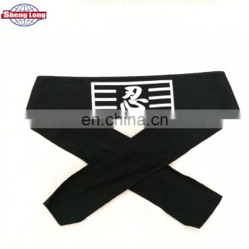 "Japanese Hachimaki Headband Martial Arts, Sports ""NINJA"" Warrior Cotton Headband / Made in China"