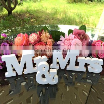 mdf white wood MRSMR wedding english alphabet decoration
