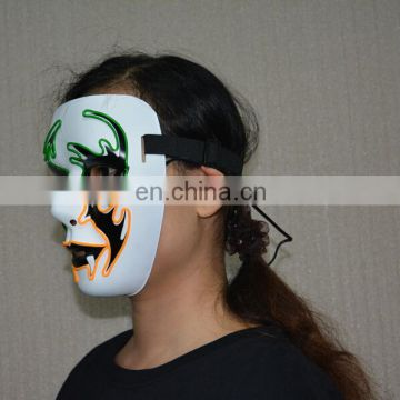 2016 Custom Unisex Led Light Up Party Mask, Led Glowing Mask