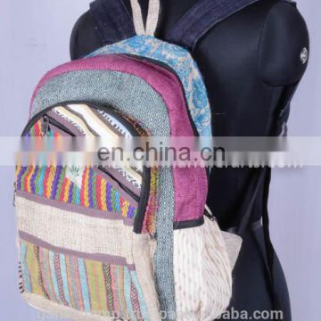Women Fashionable Canvas Hemp Backpack HBB 0037