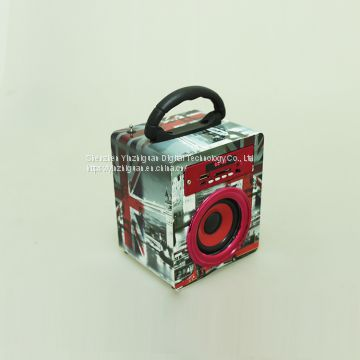 Portable Bluetooth Speaker Wireless Rechargeable Battery Mini Cube Bluetooth Wooden Speaker
