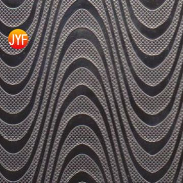 JYFI047 Indoor Stainless Steel Decor Corner House Silver Metal ripple Ceiling