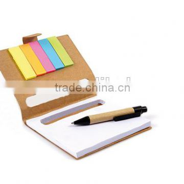 Hot Selling Custom Logo Memo Notebook with Sticky Notes and pens