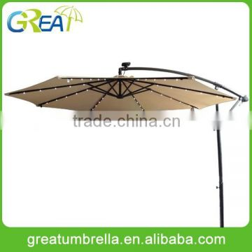 waterproof garden hanging solar led lighting umbrella                                                                         Quality Choice