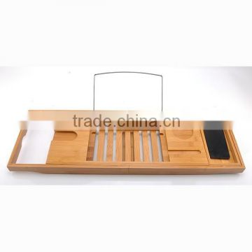 FB7-5012 bamboo bathtub caddy tray expandable bamboo bath caddy bamboo shower caddy                                                                         Quality Choice
