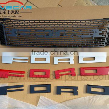 ABS auto car front grille for ford ranger, white led drl grill accessories car parts