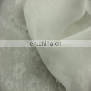floral pattern burnout curtain fabric