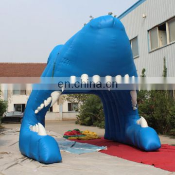 2015 hot sale inflatable Giant lion head Sports Tunnel