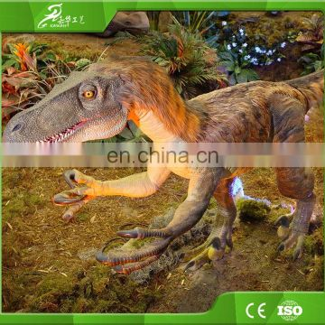 China Customized playground equipment Fiberglass Velociraptor Dinosaur