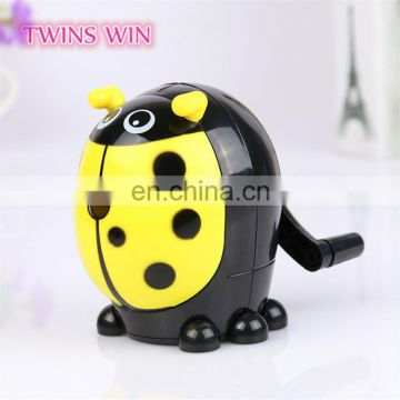 korean stationery Flash ladybug automatic pencil sharpener for school kids cartoon novelty pencil sharpeners