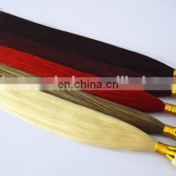 Best selling high quality nano ring remy hair double drawn hair extensions