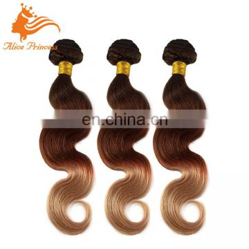 High Quality Raw Brazilian Ombre Blonde Human Hair Wave Weft Two Tone Color Body Wave Remy Virgin Hair Bundles