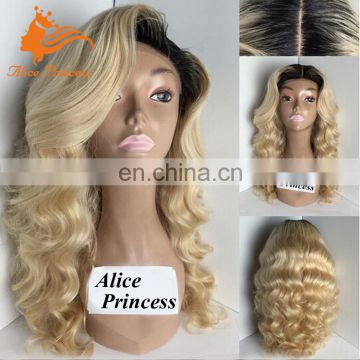 New Arrival Braided Full Lace Wig Body Wave 1BT613 Blonde Wig With Baby Hair Silk Base Full Lace Mink Brazilian Hair Wig