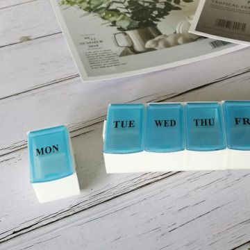 Removable 7 Day Weekly Medication Box
