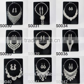 2016 Trends Bridal Wedding Teardrop Crystal Jewelry Set Wholesale S0034