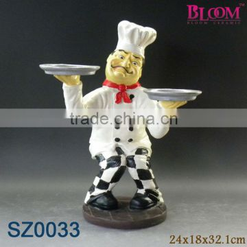 Wholesale resin chef figurines decoration
