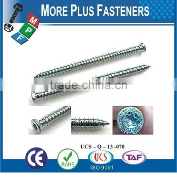 Made In Taiwan Special Cylinder Flat Head Concrete Screw Indent Hexagon Flange Screw Truss Head Torx Drive Concrete Screw