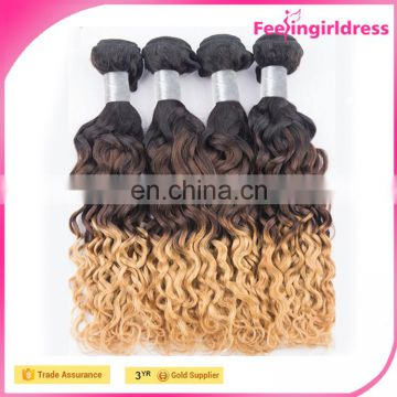 Fast Ship Charming Long Silky Straight Two Tone Ombre 6A 100 Human Hair Bangs