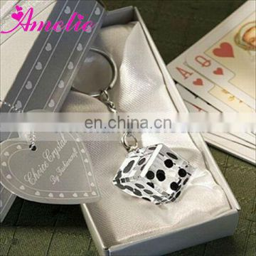 A07924 Lucky Vegas Crystal Dice Wedding Key Chain Favor