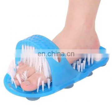 comfy good quality 2 PCS Feet Bathroom Clean Exfoliating Scrub Massage Slipper with Brushes