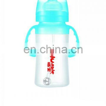 80Z Wide neck silicone baby bottle with handle,baby products