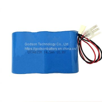 LiSOCL2 Battery ER34615M 14.5Ah 10.8V