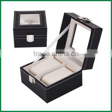 Wholesale stock leather cover wood watch case of 2 slots,3 slots,6 slots,10 slots,12 slots,20 slots,24 slots